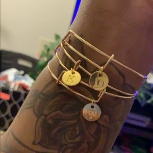 Jewelry - SOLD Gold Initial Bangle Set